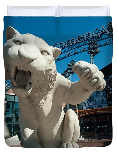 Comerica Park Entrance Duvet Cover