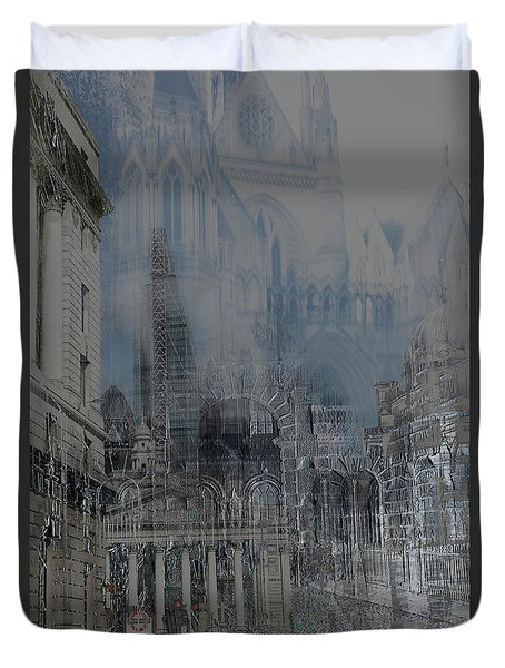Comes The Night - City Deamscape Duvet Cover