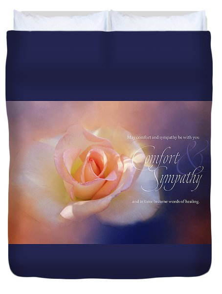Comfort And Sympathy Duvet Cover