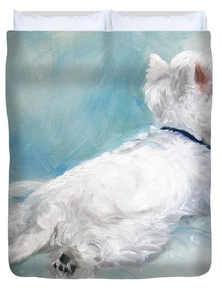 Comfort Zone Duvet Cover by Mary Sparrow
