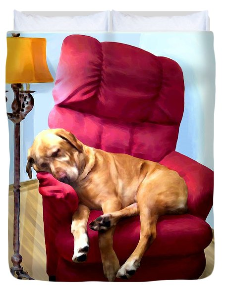 Comfortable Canine Duvet Cover by Ric Darrell