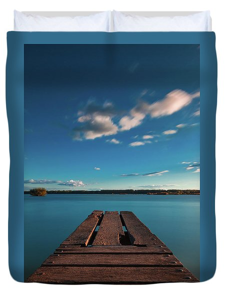 Duvet Cover featuring the photograph Comfortably Numb by Davor Zerjav