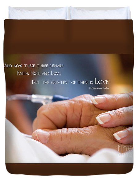 Comforting Hand Of Love Duvet Cover