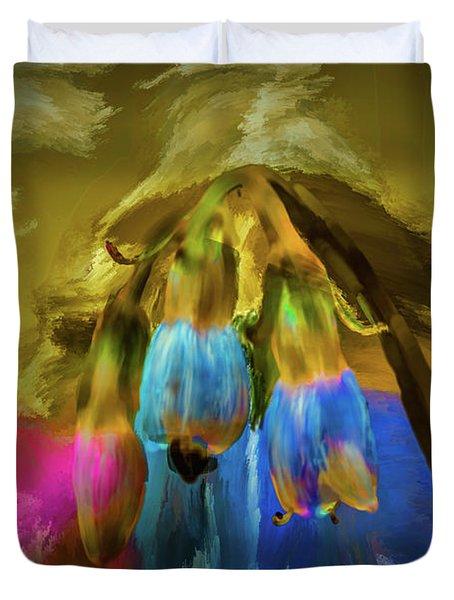 Comfrey Paint #h8 Duvet Cover