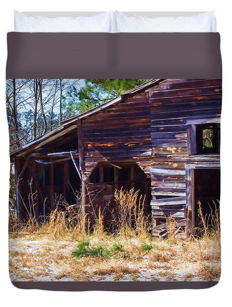 Coming Apart With Character Barn Duvet Cover