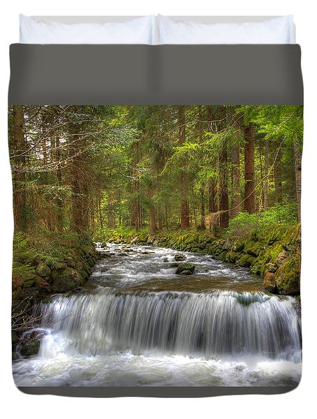 Coming Around The Bend Duvet Cover