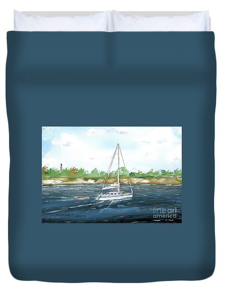 Coming Back To The Isle Of Palms Duvet Cover