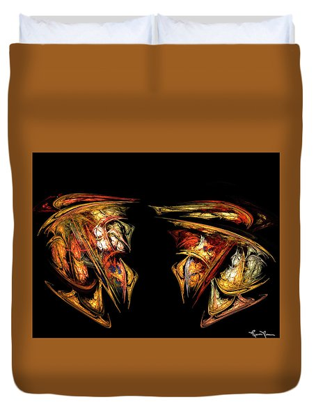 Coming Face To Face Duvet Cover