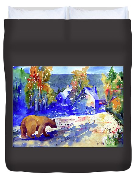 Coming For Dinner At Rainbow Lodge Duvet Cover