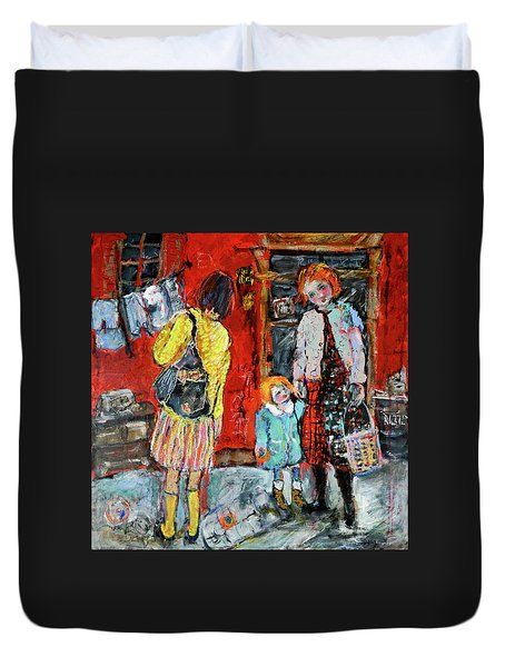 Coming For You Duvet Cover by Sharon Furner