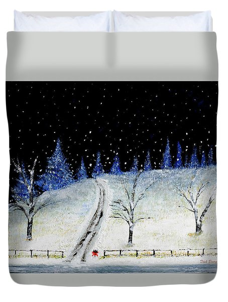 Coming Home For Christmas Duvet Cover