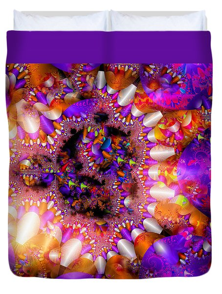 Duvet Cover featuring the digital art Coming Home by Robert Orinski