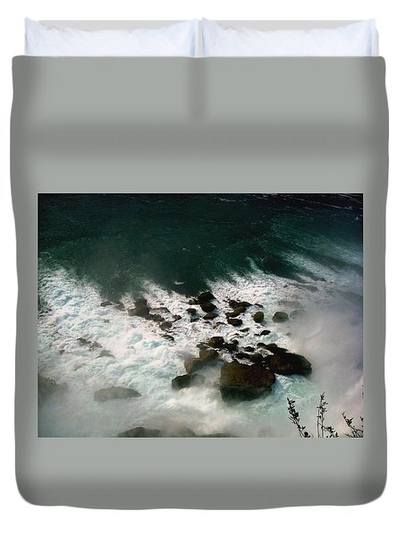 Duvet Cover featuring the photograph Coming Out by Harsh Malik