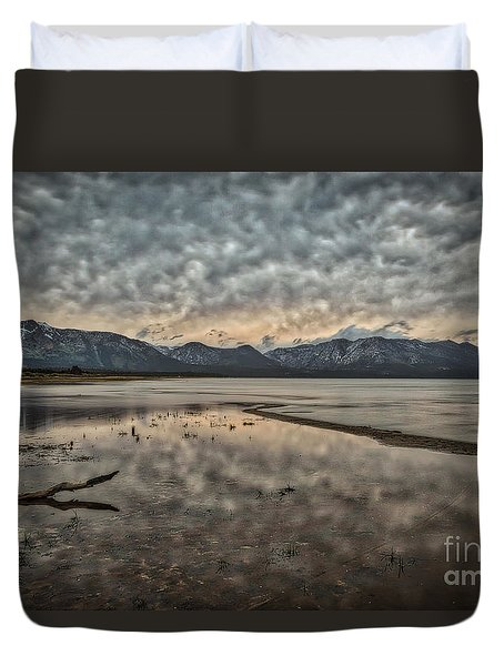 Duvet Cover featuring the photograph Coming Storm  by Mitch Shindelbower