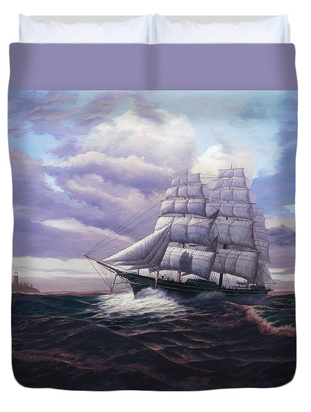 Coming Through The Storm Duvet Cover