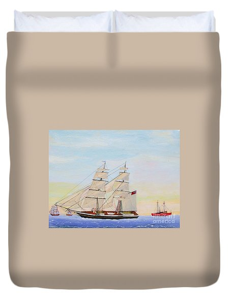 Coming To America - 1872 Duvet Cover by Bill Hubbard