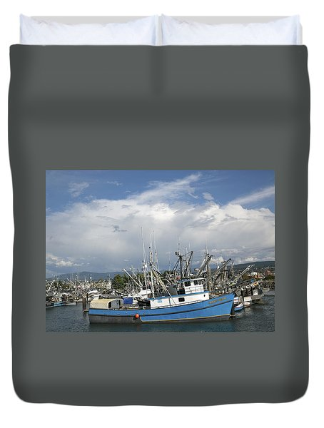 Commerical Fishing Boats Duvet Cover