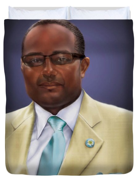 commissioned piece Brian1 Duvet Cover by Reggie Duffie