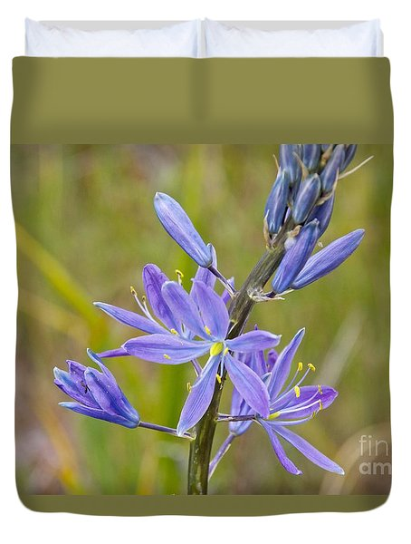 Common Camas Duvet Cover by Sean Griffin
