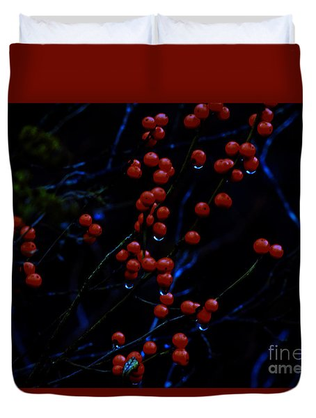 Duvet Cover featuring the photograph Common Chokecherry by Mim White