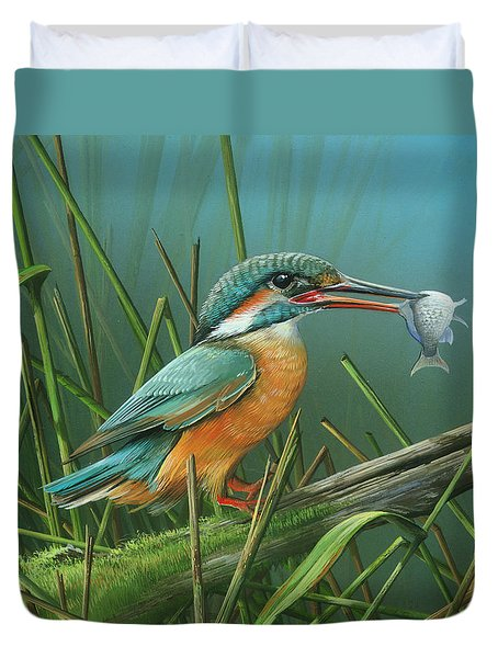 Common Kingfisher Duvet Cover