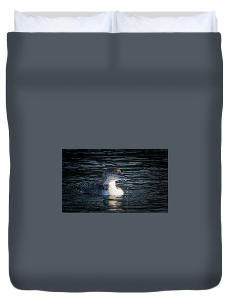 Duvet Cover featuring the photograph Common Loon by Randy Hall