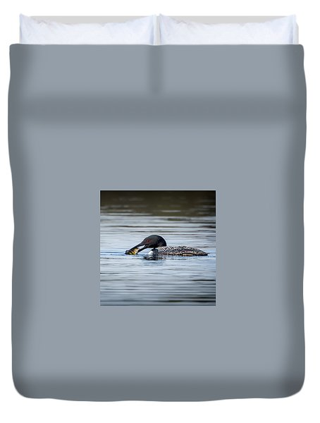 Common Loon Square Duvet Cover