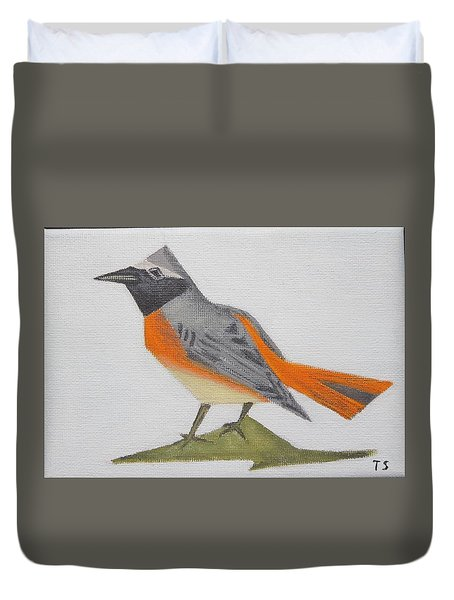 Common Redstart Duvet Cover