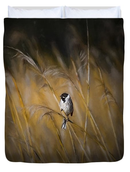 Common Reed Bunting Nov Duvet Cover by Leif Sohlman