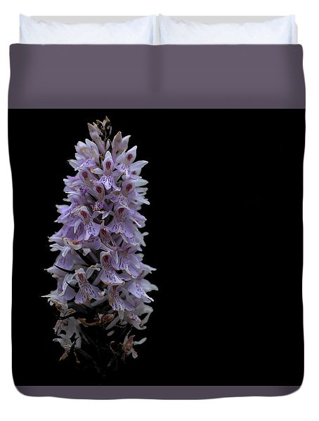 Common Spotted Orchid Duvet Cover by Keith Elliott