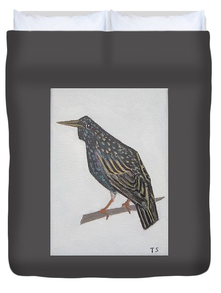 Common Starling Duvet Cover