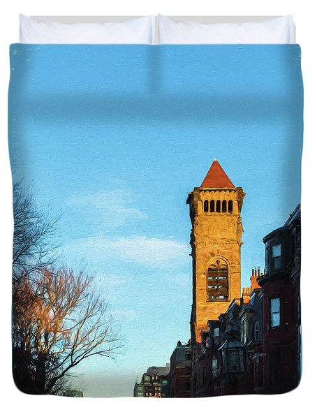 Commonwealth Avenue In Boston Duvet Cover