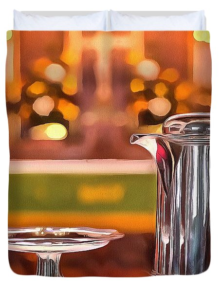 Communion Silver 1800 Duvet Cover