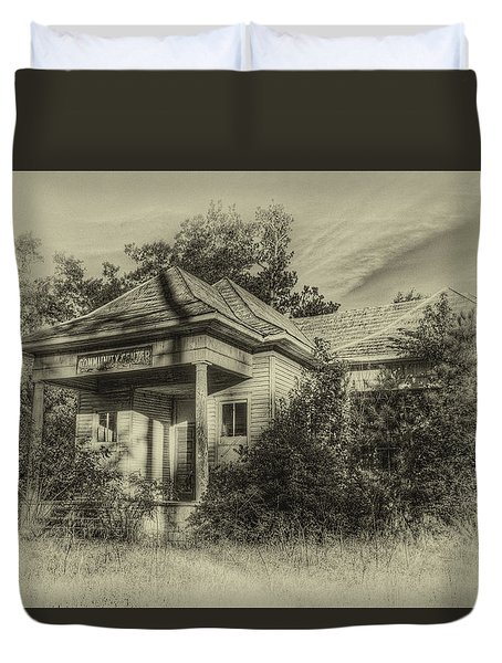 Community Center II In Sepia Duvet Cover