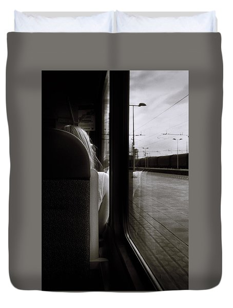 Commuting Lives Duvet Cover