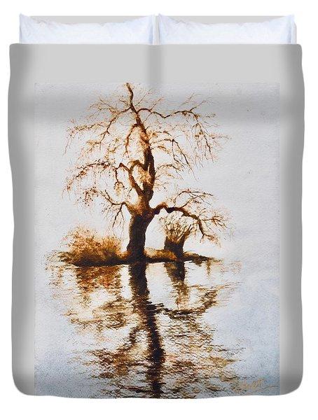 Como Lake Reflections Duvet Cover