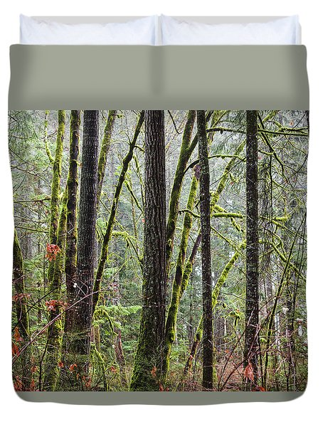 Comox Valley Forest-1 Duvet Cover