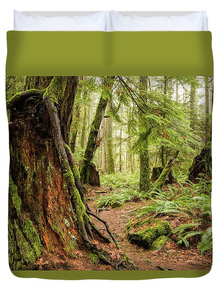 Comox Valley Forrest-3 Duvet Cover