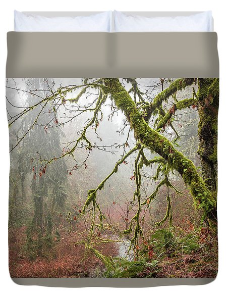 Mist In The Forest Duvet Cover