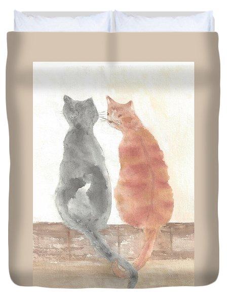 Companion Cats Duvet Cover