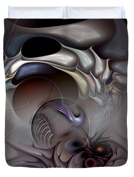 Compartmentalized Delusion Duvet Cover by Casey Kotas