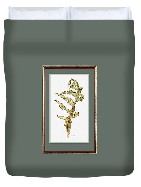 Compass Plant, Fall Duvet Cover by Catherine Twomey