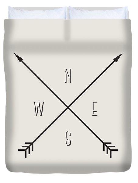 Compass Duvet Cover by Taylan Apukovska