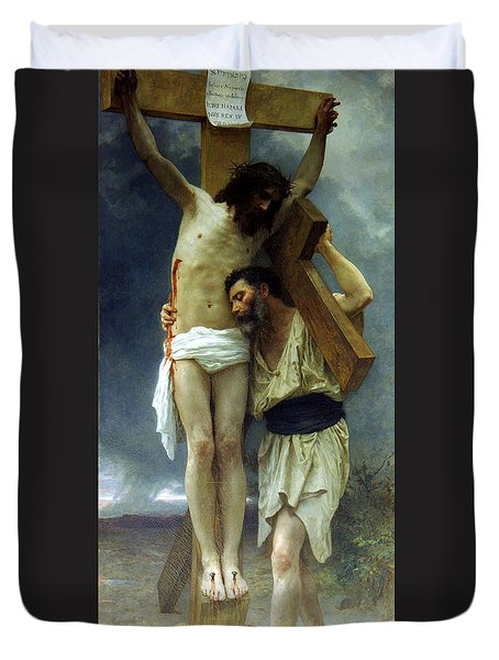 Compassion Duvet Cover by William Adolphe Bouguereau