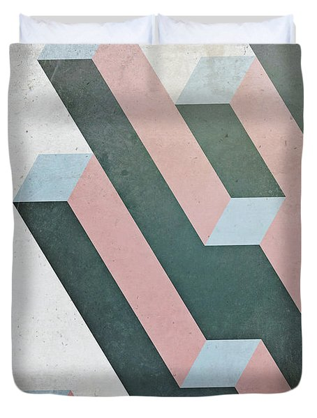 Complex Geometry Duvet Cover