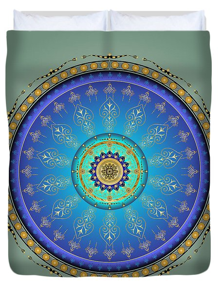 Duvet Cover featuring the digital art Complexical No 1735 by Alan Bennington