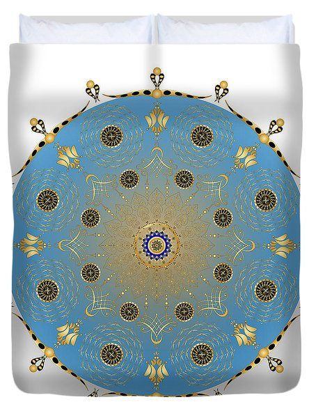 Duvet Cover featuring the digital art Complexical No 1736 by Alan Bennington