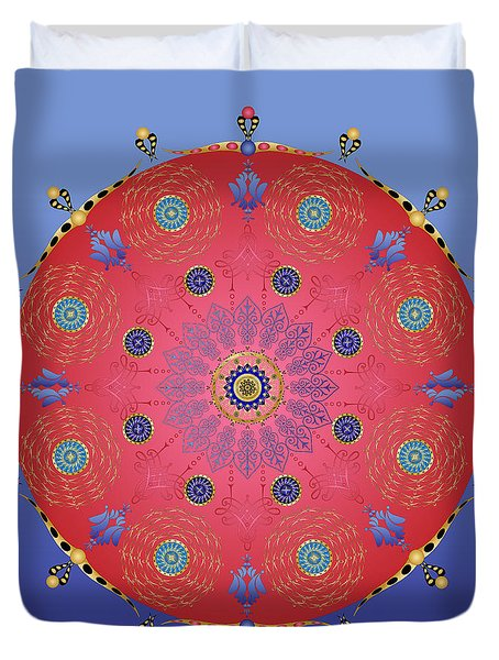 Duvet Cover featuring the digital art Complexical No 1737 by Alan Bennington