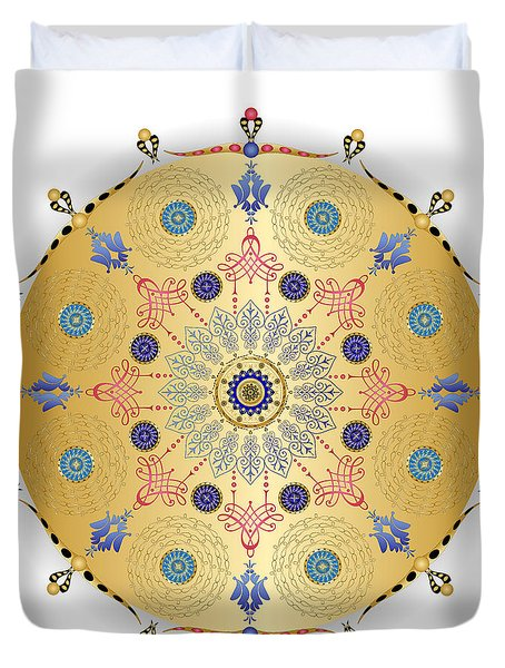 Duvet Cover featuring the digital art Complexical No 1740 by Alan Bennington