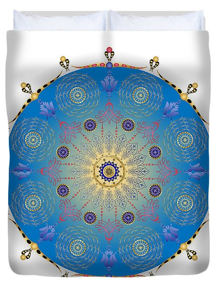 Duvet Cover featuring the digital art Complexical No 1741 by Alan Bennington